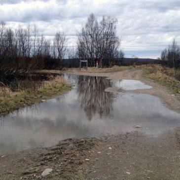 Några bilder från en stilla vårflod i Lainio älven år 2015